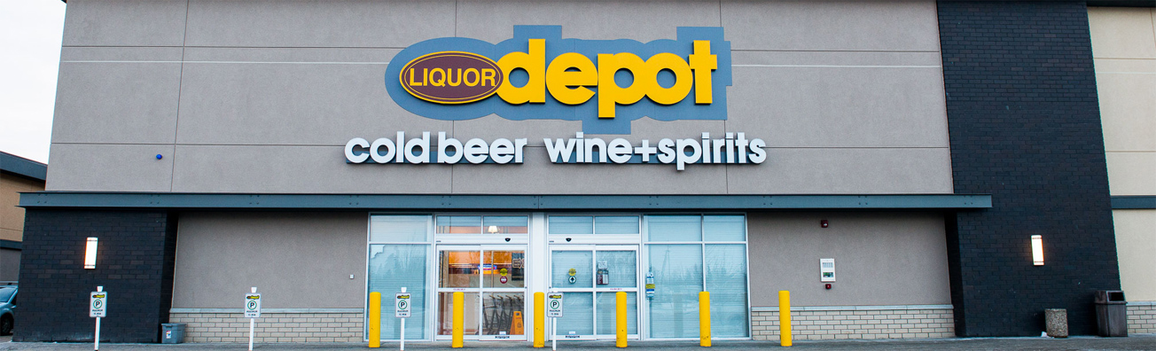 Liquor depot cold beer wine + spirites